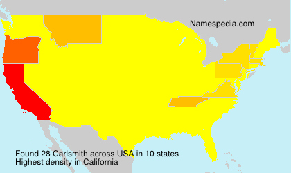 Surname Carlsmith in USA
