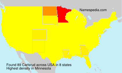 Surname Carlsrud in USA