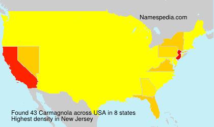 Familiennamen Carmagnola - USA