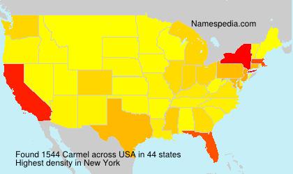 Familiennamen Carmel - USA