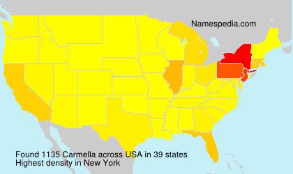 Surname Carmella in USA