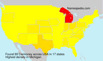 Surname Carmoney in USA