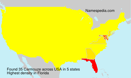 Surname Carmouze in USA