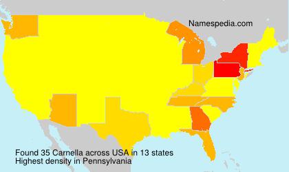 Surname Carnella in USA