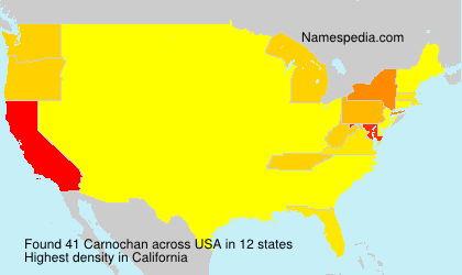Surname Carnochan in USA