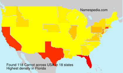 Surname Carnot in USA