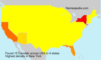 Surname Caroddo in USA
