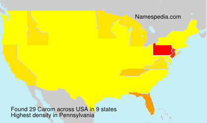 Surname Carom in USA