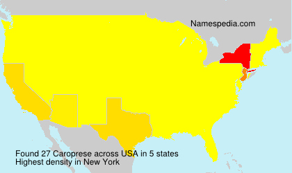 Surname Caroprese in USA