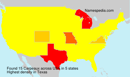 Surname Carpeaux in USA