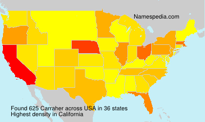 Surname Carraher in USA