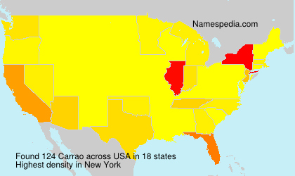 Surname Carrao in USA