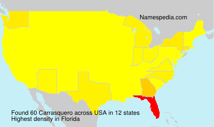 Familiennamen Carrasquero - USA