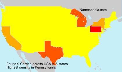 Familiennamen Carrian - USA