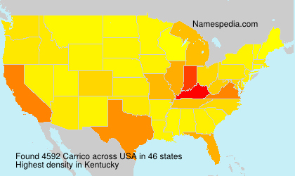 Surname Carrico in USA