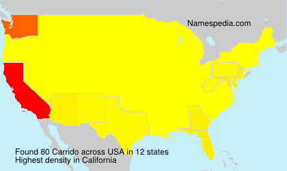 Surname Carrido in USA