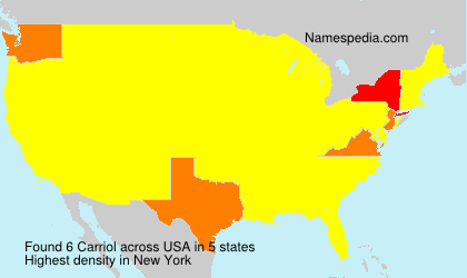 Surname Carriol in USA
