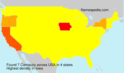 Surname Carriquiry in USA