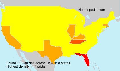 Surname Carrissa in USA