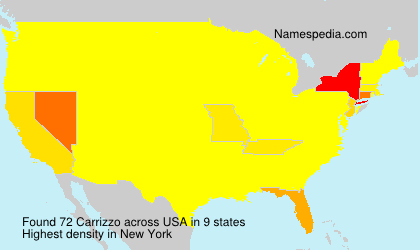 Surname Carrizzo in USA