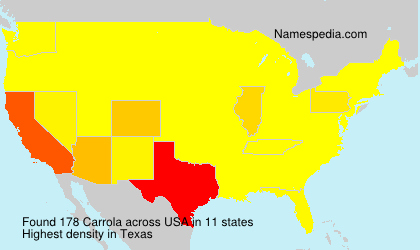 Surname Carrola in USA