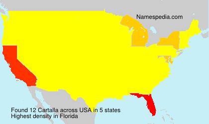 Familiennamen Cartalla - USA