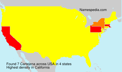 Familiennamen Cartejena - USA