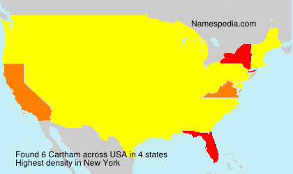 Surname Cartham in USA