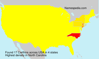 Surname Carthins in USA