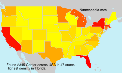 Surname Cartier in USA