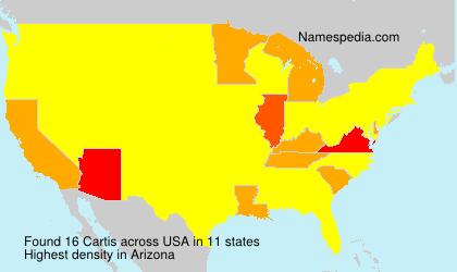 Surname Cartis in USA