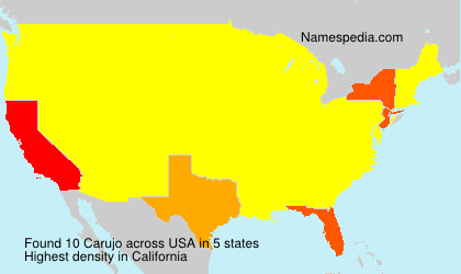 Familiennamen Carujo - USA