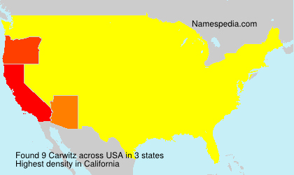 Surname Carwitz in USA