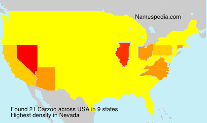 Surname Carzoo in USA