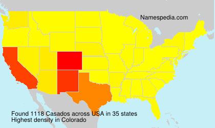 Surname Casados in USA