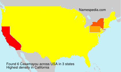 Familiennamen Casamayou - USA
