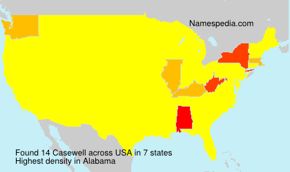 Surname Casewell in USA
