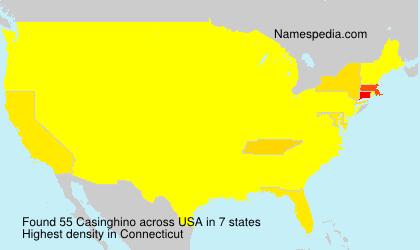 Surname Casinghino in USA