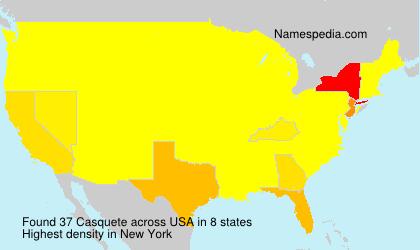 Surname Casquete in USA