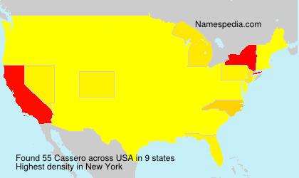 Surname Cassero in USA