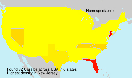 Surname Cassiba in USA