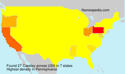 Surname Cassley in USA