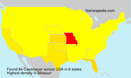 Surname Cassmeyer in USA