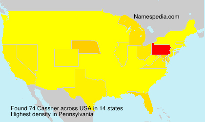 Surname Cassner in USA