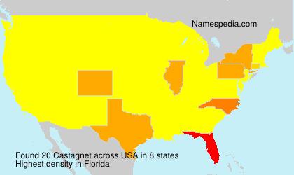 Surname Castagnet in USA