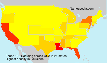 Surname Castaing in USA