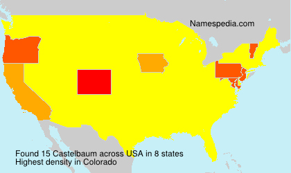 Surname Castelbaum in USA