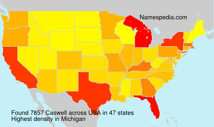 Surname Caswell in USA