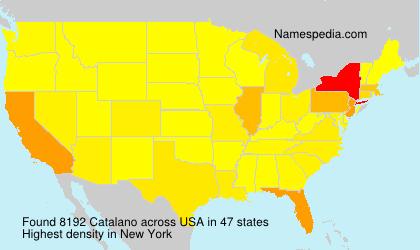 Surname Catalano in USA