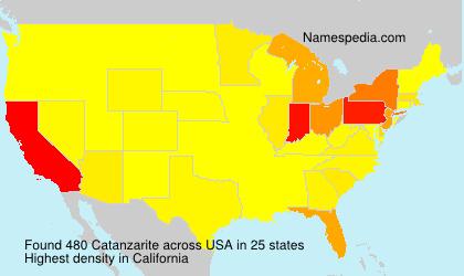 Familiennamen Catanzarite - USA